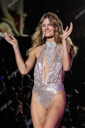Constance Jablonski walks the runway during the Women Spring/Summer 2021 collection by Etam Lingerie show during the Paris Fashion Week, in Paris, France, 29 September 2020. The fashion week runs from 29 September to 06 October 2020 in Paris.