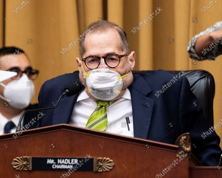 U.S. Representative Jerry Nadler (D-NY) speaks at a House Judiciary Committee markup hearing on H.R. 7370, the Protecting Employees and Retirees in Business Bankruptcies Act of 2020; H.R. 2648, the Student Borrower Bankruptcy Relief Act of 2019; H.R. 8366, To amend title 11 of the United States Code to increase the amount of the allowable homestead exemption or the Protecting Homeowners in Bankruptcy Act of 2020; H.R. 8354, to establish the Servicemembers and Veterans Initiative within the Civil Rights Division of the Department of Justice, and for other purposes or the Servicemembers and Veterans Initiative Act of 2020; and H.R. 5227, the Technology in Criminal Justice Act of 2019.