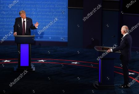 Editorial image of Trump and Biden Meet in First Presidential Debate, Cleveland, Ohio, USA - 29 Sep 2020
