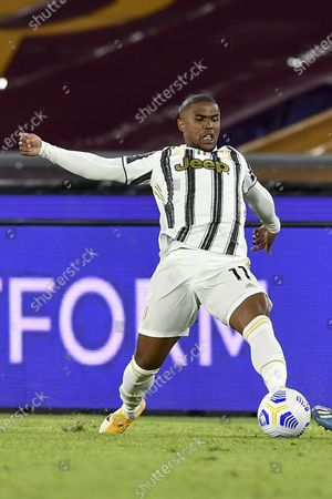 "Douglas Costa de Souza (Juventus)           during the Italian  Serie A"" match between  Roma 2-2 Juventus  at  Olimpic Stadium  on September 27 , 2020 in Roma, Italy."