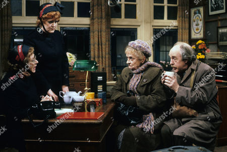 Stock Picture of Thora Hird as Captain Emily Ridley, Patsy Rowlands as Sister Alice Meredith, Patsy Smart as Annie Walton and Derek Benfield as Arthur Walton.