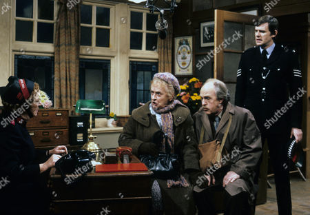 Stock Picture of Thora Hird as Captain Emily Ridley, Patsy Smart as Annie Walton and Derek Benfield as Arthur Walton with terence Edmond as policeman.