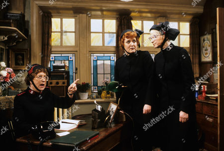 Thora Hird as Captain Emily Ridley, Patsy Rowlands as Sister Alice Meredith and Rosamund Greenwood as Dorothy Smith.