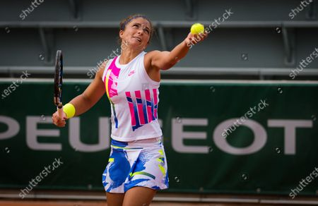 Sara Errani of Italy in action during the second round at the 2020 Roland Garros Grand Slam tennis tournament