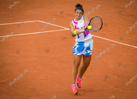 Stock Picture of Sara Errani of Italy in action during the second round at the 2020 Roland Garros Grand Slam tennis tournament