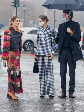 Sofia Sanchez de Betak, Natalia Vodianova and Antoine Arnault attend the Dior Womenswear Spring/Summer 2021 show