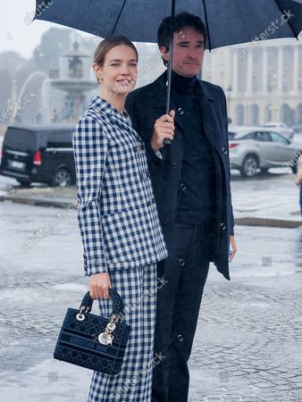 Natalia Vodianova and Antoine Arnault attend the Dior Womenswear Spring/Summer 2021 show