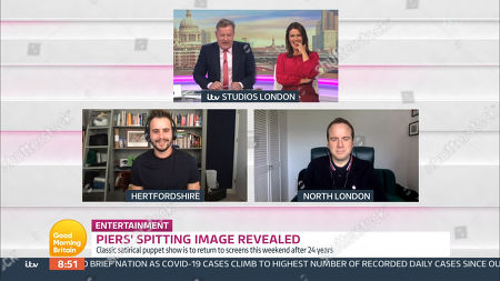 Stock Image of Piers Morgan, Susanna Reid, Matt Forde and Luke Kempner