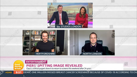 Stock Photo of Piers Morgan, Susanna Reid, Matt Forde and Luke Kempner
