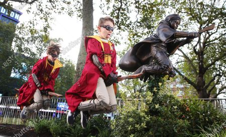 Editorial image of New Harry Potter Quidditch Statue, London, UK - 30 Sep 2020