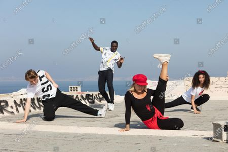 Stock Image of Castle Rock as Jeff Chase, Terique Jarrett as Isaac Portier, Eubha Jessica Lord as Lena Grisky and Akilade as Ines Lebreton