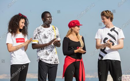 Stock Photo of Eubha Akilade as Ines Lebreton, Terique Jarrett as Isaac Portier, Jessica Lord as Lena Grisky and Castle Rock as Jeff Chase