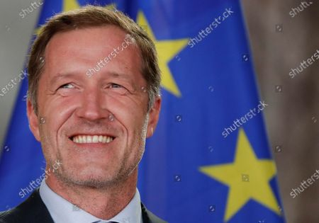 PS chairman Paul Magnette pictured at a press conference of the co-formators after they reached an agreement for a Vivaldi government after a last night of negotiatons in Brussels, Belgium, 30 September 2020. The meeting took place for the formation of a new government after the 26 May 2019 regional, federal and European elections.