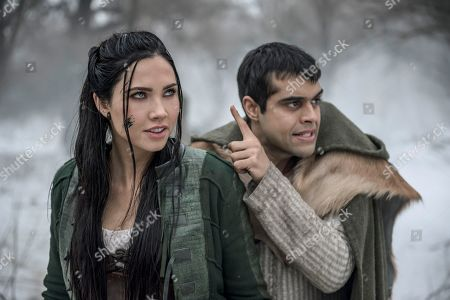 Stock Image of Jessica Green as Talon and Anand Desai-Barochia as Janzo
