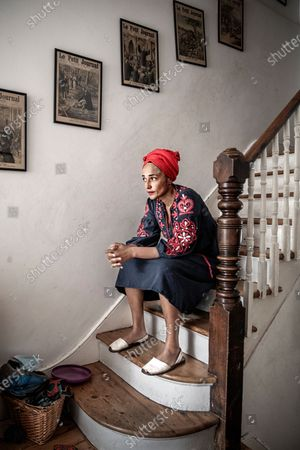 British author Zadie Smith photographed at home in Kilburn