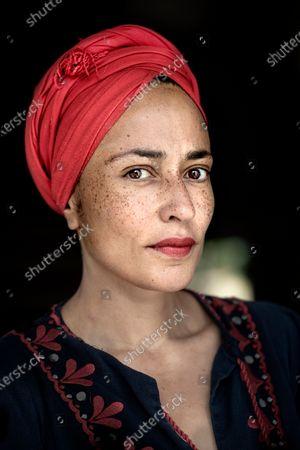 Editorial image of Author Zadie Smith at home, Kilburn, London, UK - 22 Sep 2020