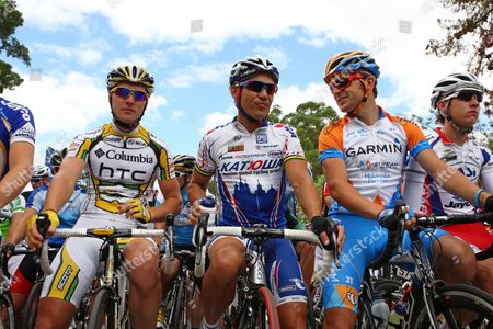 Jayco Bay Cycling Classic - Leigh Howard (Jayco VIS), Robbie Mcewen (Mazda) and Jack Bobridge  (SASI Team O'Grady  )