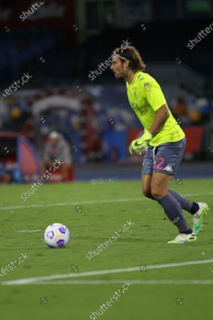 Action during soccer match between SSC Napoli  and  GENOA CFC     at  Stadio San Paolo  in Napoli .final result Napoli vs. GENOA CFC 6-0.In picture Federico Marchetti,GK (Goalkeeper)  of GENOA CFC