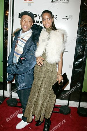 Stock Picture of Russell Simmons and Georgianna Robertson
