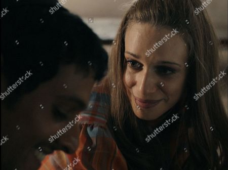 Stock Photo of Yehuda Nahari Halevi as Yigal Amir and Daniella Kertesz as Nava