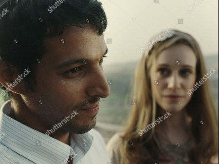 Yehuda Nahari Halevi as Yigal Amir and Daniella Kertesz as Nava