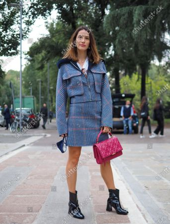 Ludovica Sauer street style outfit before SPORTMAX fashion show during Milano fashion week Fall/Winter 2020