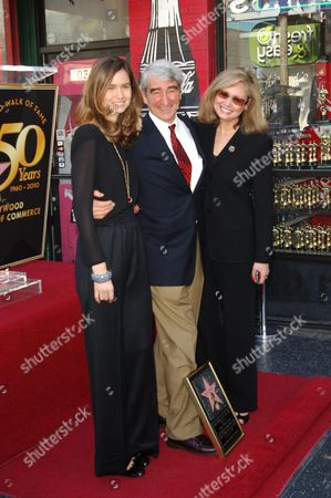 Sam Waterston with daughter Katherine and wife Lynn Waterson