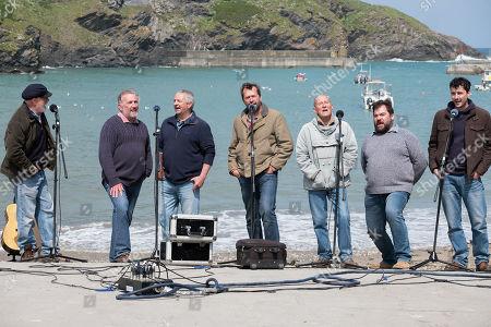 Stock Picture of James Purefoy as Jim, David Hayman as Jago and Sam Swainsbury as Rowan