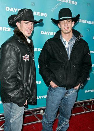 Stock Picture of Kody Lostroh and J.B. Mauney, 2009 Professional Bull Rider World Champion