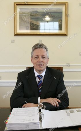 Northern Ireland's First Minister and new Democratic Unionist Party leader Peter Robinson inside his office at Stormont, Belfast, Northern Ireland