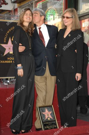 Sam Waterston (c) with wife Lynn Louisa Woodruff (r) and Daughter (l)