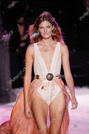 Stock Picture of Model on the catwalk, Constance Jablonski