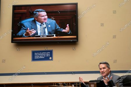 Stock Image of Representative Tom Rice (R-SC) delivers his opening statement during a hearing before the US House of Representatives Committee on Oversight and Reform focused on the cost of prescription drugs at the US Capitol Building in Washington, DC, USA, 30 September 2020.