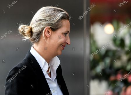 Alternative for Germany (AfD) faction leader in the German parliament Bundestag Alice Weidel arrives for a party board meeting in Berlin, Germany, 30 September 2020.