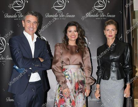 Daniela De Souza, Martina Colombari, Alessandro Costacurta