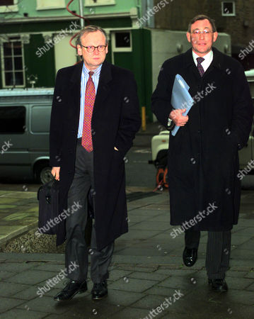 John Gummer Arrives At The Bse Inquiry With David Curry Today
