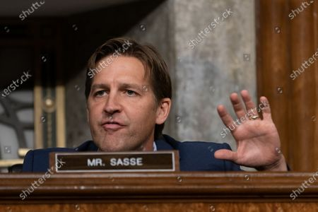 United States Senator Ben Sasse (Republican of Nebraska) asks questions of James Comey, Former Director Of The Federal Bureau Of Investigation as he testifies remotely before the Senate Judiciary Committee during an oversight hearing to examine the Crossfire Hurricane Investigation in Washington DC., on Wednesday, September 30, 2020.