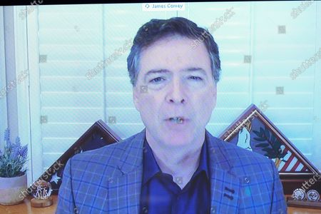 James Comey, former director of the Federal Bureau of Investigation (FBI), speaks via videoconference during a Senate Judiciary Committee hearing in Washington, D.C., U.S.,. The committee is exploring the FBI's investigation of the 2016 Trump campaign and Russian election interference.