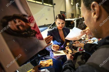 Juliette Binoche signs autographs during the 16th Zurich Film Festival (ZFF) in Zurich, Switzerland, 30 September 2020.