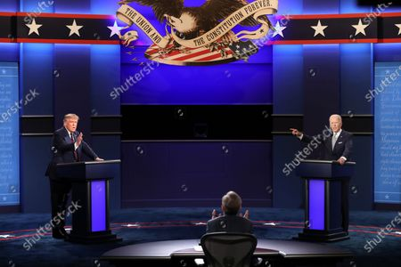 Editorial picture of Commission on Presidential Debates announces need for additional structure at remaining debates, Cleveland, USA - 29 Sep 2020