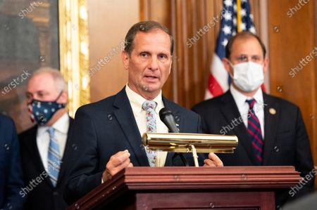 U.S. Representative Chris Stewart (R-UT)  speaks at a press conference where House Republicans unveiled their China Task Force report.