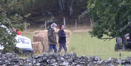 James May and Richard Hammond filming the Grand Tour in the Highlands