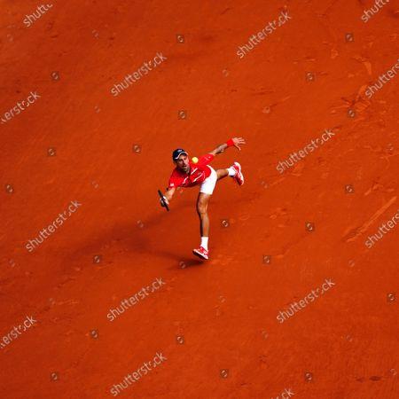 Novak Djokovic during his Men's Singles second round match