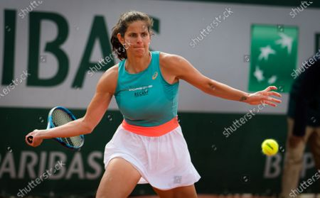 Julia Goerges of Gemany in action during the second round at the 2020 Roland Garros Grand Slam tennis tournament