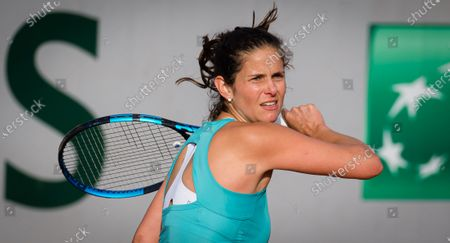 Stock Photo of Julia Goerges of Gemany in action during the second round at the 2020 Roland Garros Grand Slam tennis tournament