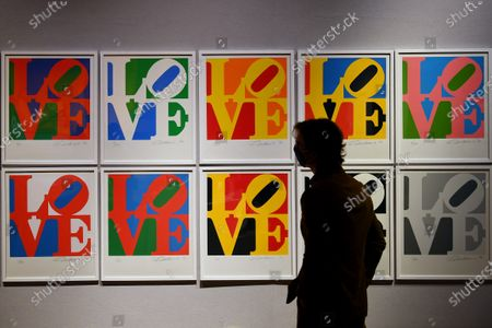 The Book of Love, 1996, by Robert Indiana, est. £90,000 - 120,000, which features in the Bonham's Pop x Culture sale taking place on the 8th of October.