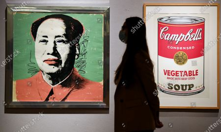 Mao by Andy Warhol, 1972 est. £22,000 - 32,000, and Vegetable Soup, from Campbell's Soup 1, 1968, est. £15,000 - 20,000, which feature in the Bonham's Pop x Culture sale taking place on the 8th of October.
