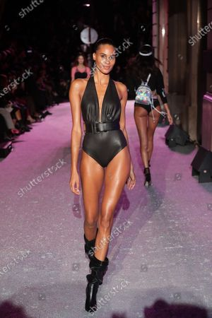 Stock Image of Cindy Bruna on the catwalk