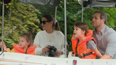 Sam Faiers and Paul with Little Paul and Rosie.