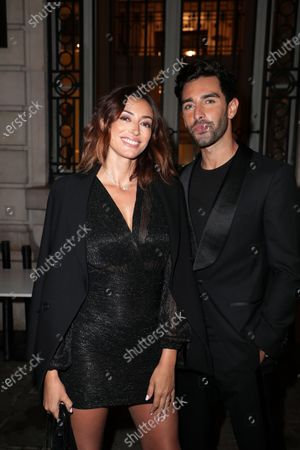 Stock Photo of Rachel Legrain-Trapani, Valentin Léonard arrive at Flagship Hausmann near Opera